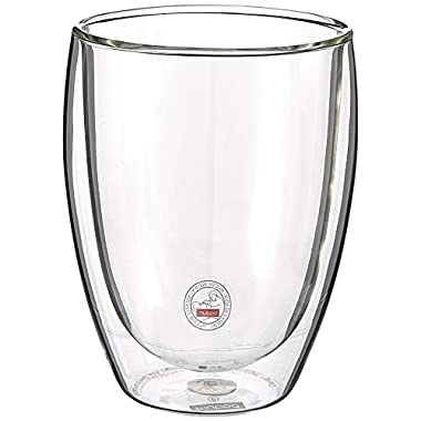 Bodum Pavina Double Wall Glass, Medium, 12-Ounce, Clear Set of 2
