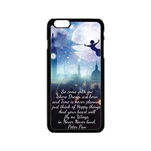 Peter Pan Flying Quotes Pattern Plastic Case For Iphone 6