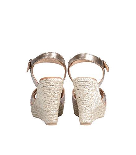 LA FEE MARABOUTEE Damen Plateau-Sandale in Metallic 795 coloris du type