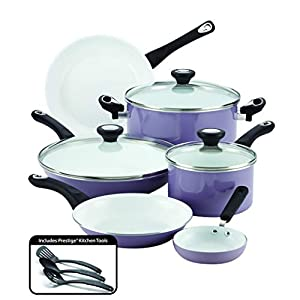 Farberware Ceramic Nonstick Cookware Pots and Pans Set, 12 Piece, Lavender 8