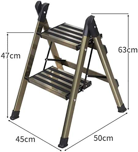 JLDN Escalerilla, Escalera Plegable Escalera portátil de Aluminio Stepladder con Apoyabrazos Resistente y Ancha Antideslizantes Multiusos hogar,2-Step: Amazon.es: Hogar
