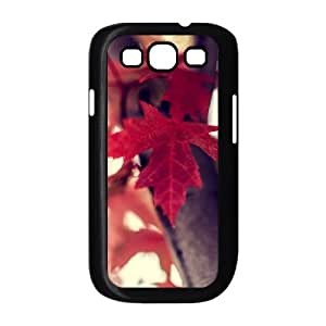 Bloomingbluerose Red Flower Samsung Galaxy S3 Cases Red Maple Leaves Tree, [Black]