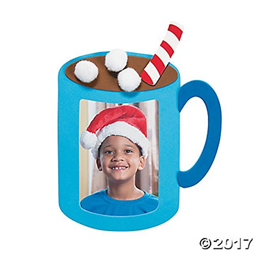 Set of 12 Hot Cocoa Photo Picture Frame Magnet Craft Kit