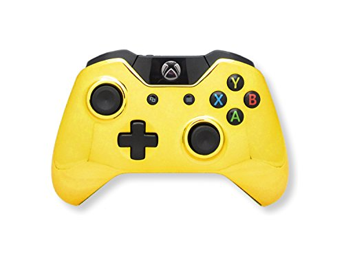 Xbox One Modded Controller Chrome Gold - Master Mod Includes Rapid Fire, Quick Scope, Drop Shot, Auto Aim, Sniped Breath, Mimic, and Much More - Designed For COD Black Ops 3, Advanced Warfare, Titanfall, Battlefield 4 (Xbox One Controller Modded)