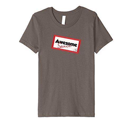 Kids AWESOME SAUCE, Funny Joke Tshirt Easy Halloween Costume Idea 6 Asphalt