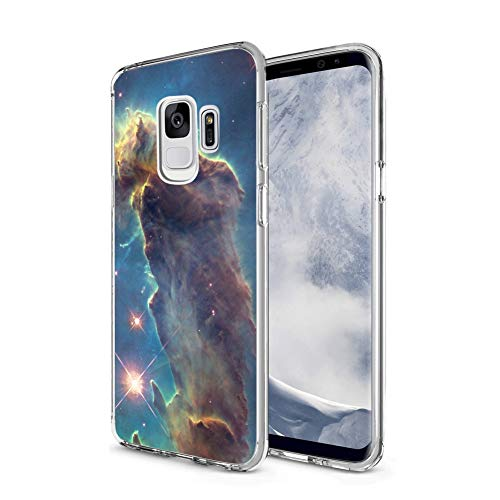Owa UV Printing Case for Samsung Galaxy S9, Shock-Absorption Bumper Cover, Anti-Scratch Clear Back, HD Clear - Outer Space