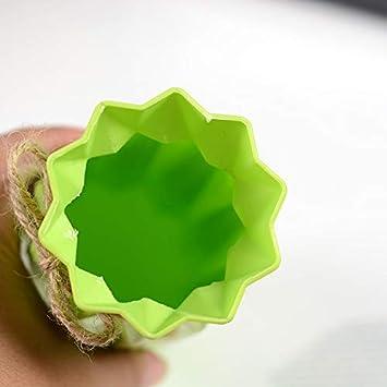 PerGrate Vase en Plastique Solide conteneur de Plantes de Fleurs de Style Origami de Couleur pour Le Bureau /à Domicile