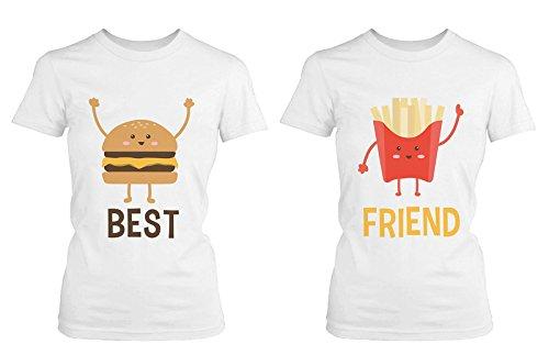 b7ce8adb73ea Burger and Fries BFF Shirts Best Friend Matching Tees Cute Friendship  Tshirts
