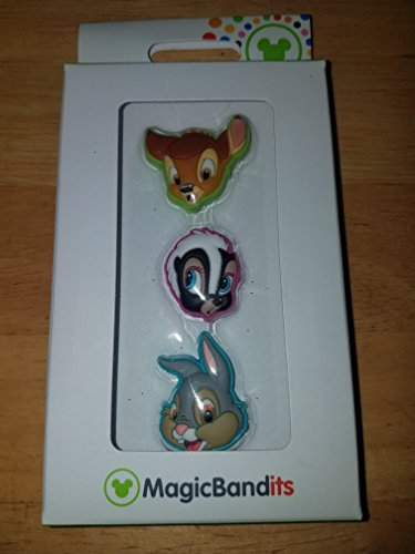 Disney Parks Bambi Flower Thumper Magic Band Bandits Set of 3 Charms -