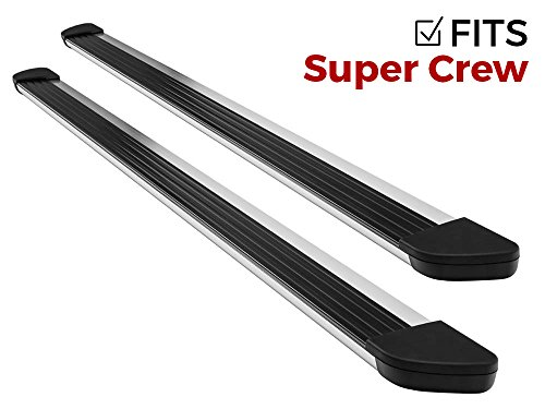 Ionic Gladiator Brite Running Boards (Fits) 2015-2018 Ford F150 SuperCrew