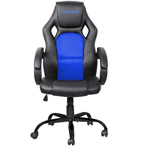 Yaheetech Adjustable High Back Gaming Racing Car Style Swivel Tilt Chair