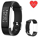 Cheap Fitness Tracker Smart Watch Bracelet, Activity Tracker Watch Heart Rate Monitor, Bluetooth Wireless Smart Bracelet with Replacement with Android and iOS