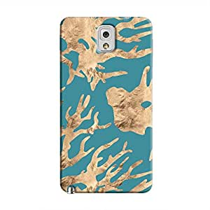 Cover It Up - Navy blue Nature Print Galaxy Note 3 Hard case