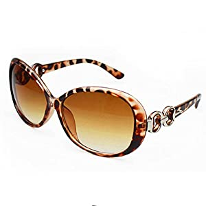 Weixinbuy Women's Retro Eyewear Oversized Square Frame Sunglasses