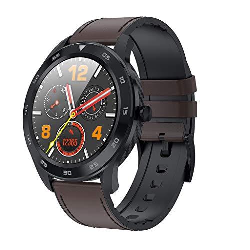Fine DT98 1.3inch IP68 Waterproof Smart Watch,Blood Pressure/Heart Ra-te Monitor Watch Sleep Tracker,Full Touch Screen Sport Smartwatch Fitness Bracelet (Coffee) reviews