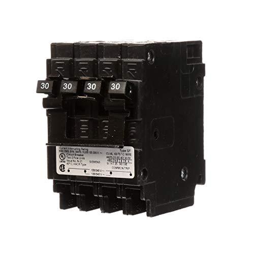 (Siemens US2 Q23030CT2NC 30/30A 120/240V 4P 10K New Quad, Black )
