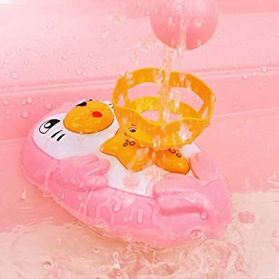 Markc Children's Automatic Bath Toys Bathroom Fun Cartoon Penguin Electric Water Spray Toy Boy And Girl Bath Floating Play Water Polo 1-4 Years Old Early Childhood Educational Toys (Color : Pink): Beauty
