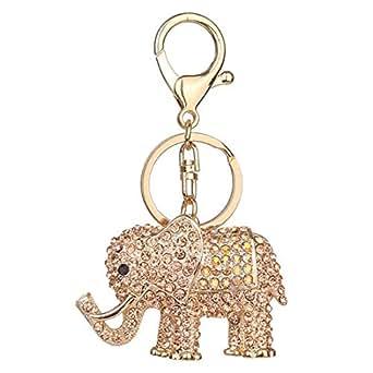 Fulision Elefante creativo en forma de llavero shinning ...