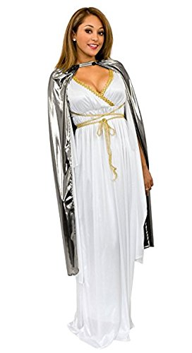 Silver Cape Costume (Charades Adult Shiny Lame 44-Inch Costume Cape,)