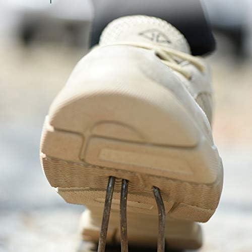 ZYFXZ Léger en Cuir suédé Bas Baskets Montantes Chaussures Hommes Femmes Travail en Acier Toe Respirante Chaussures de Protection Bottes de sécurité (Color : R, Size : 45)