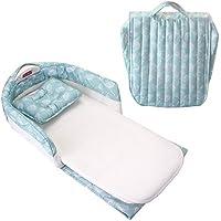 Sankoo Misty Dandelions Catcher Fabric Pattern Waterproof Foam Mattress Baby Bed with Sheet (Green)