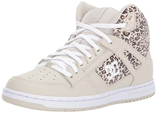 DC Women's Rebound High TX SE W Skate Shoe, Tan/Brown, 10 B B US