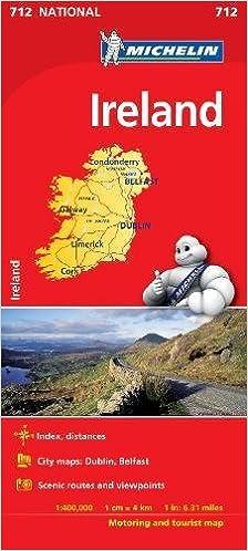 Michelin National Map 712 Ireland
