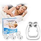 Stayoung 3 Piezas Antironquidos Clip Nasal Magnético, Dilatador Nasal para Detener los Ronquidos, Facilitar la Respiración y Dormir Cómodo