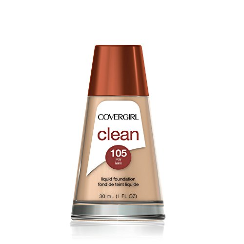 (COVERGIRL Clean Makeup Foundation Ivory 105, 1 oz (Pack of 2))