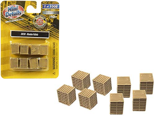 - Wooden Pallets 8 Piece Accessory Set 1/87 (HO) Scale by Classic Metal Works 20238