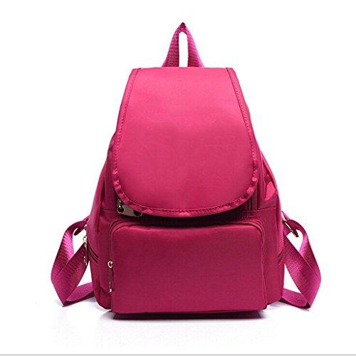 backpack Nylon backpack bag Bags roses Student amp;F ZY red Shoulder waterproof Ms shoulder portable 0wTxq65