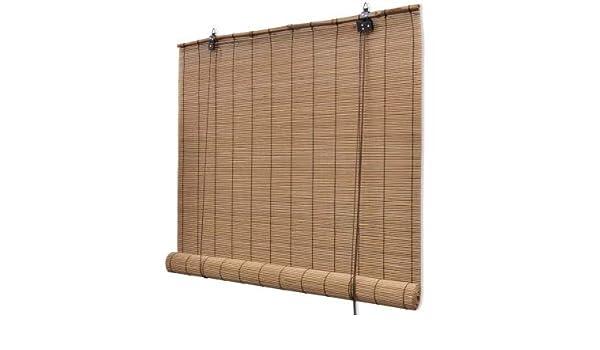 GOTOTOP Persiana Enrollable de bambú, Estores de Ventana para Interiores 80 x 160 cm: Amazon.es: Hogar