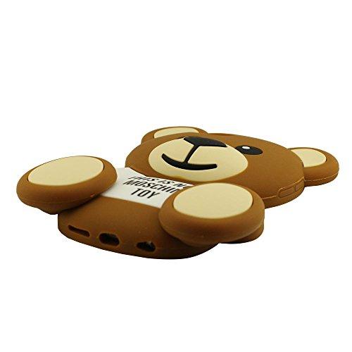Peu Ours Ted Apparence Silicone Gel Coque Housse étui Case Cover Bumper Soft Souple Doux Coussin Protecteur pour iPhone 6 / iPhone 6S 4.7 Pouce, iPhone 6 Coque, iPhone 6S Case, Mignonne Mode 3D Dessin