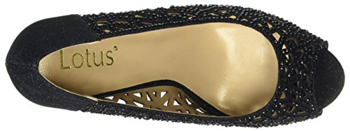 Diamante Scarpe Flink Black Nero Donna Blk Spuntate Lotus BUqFp