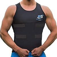 Benefit Sports Men Waist Trainer Vest Neoprene Sauna Sweat Body Shaper with Velcro for Weight Loss Gym Workout Shapewear Slimming Shirt