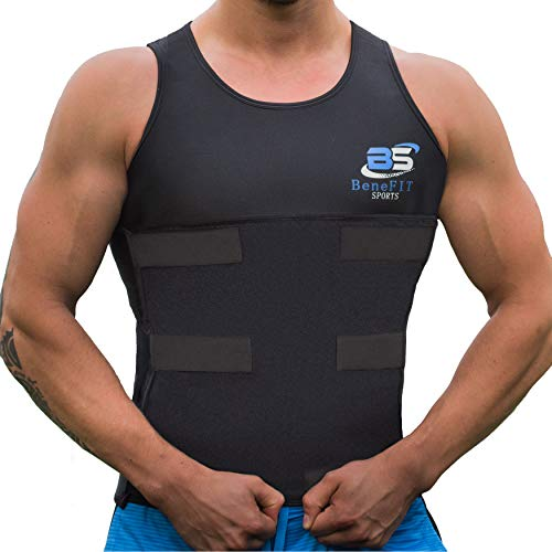 fecc329567 Benefit Sports Men Waist Trainer Vest Neoprene Sauna Sweat Body Shaper with  Velcro for Weight Loss. Tap to expand