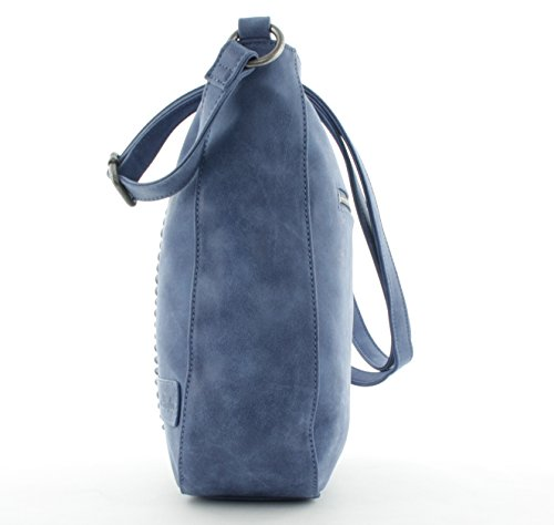 Fritzi aus Preußen Catalina Gecco Vintage Umhängetasche 27cm Gecco-Vintage - Blue OqCBh