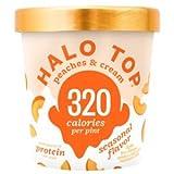 Halo Top, Peaches & Cream Ice Cream, Pint (4 Count)