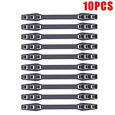 10PCS Mask Extenders Anti-Tightening Ear Protector Decompression Holder Hook Ear Strap Accessories Ear Grips Extension Black: Clothing