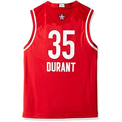 OuterStuff NBA All-Star West Durant K Replica Jersey Cloths, Medium(10-12), Red