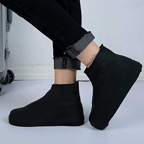 Noir Furphy Chaussures de pluie imperm/éables en latex r/éutilisables recouvre les couvre-chaussures de pluie antid/érapantes en caoutchouc S//M//L Chaussures Accessoires M