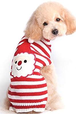 BOBIBI Dog Sweater Christmas Santa Pet Cat Winter Knitwear Warm Clothes from BOBIBI