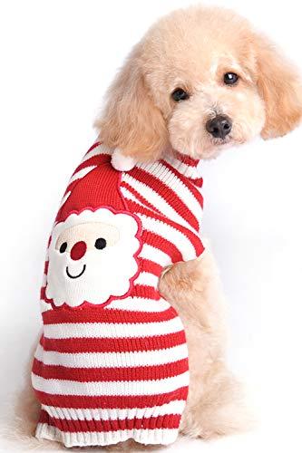 BOBIBI Dog Sweater Christmas Santa Pet Cat Winter Knitwear Warm Clothes