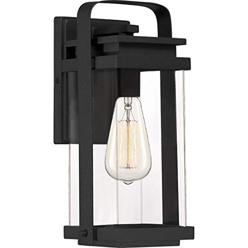 - Quoizel EXH8406EK Exhibit Outdoor Wall Sconce, 1-Light 100 Watts, Earth Black