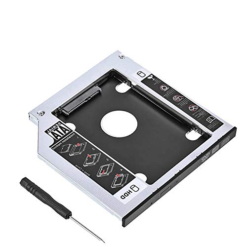 (2.5'' SATA HDD SSD Hard Drive Disk DVD CD ROM Optical SuperDrive Caddy Tray Adapter for General Laptop12.7mm CD Optical Drives, SATA III Connectivity for HP, ASUS, Acer (General 12.7mm))