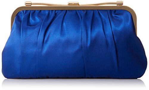 BCBG Satin Frame Reversible Clutch, Cobalt Blue Combo, One Size by BCBGMAXAZRIA