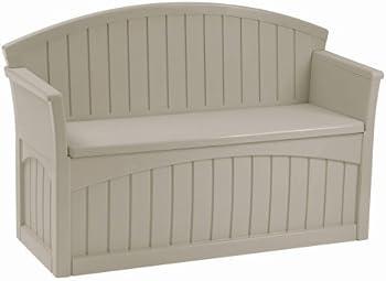 Suncast PB6700 50-Gallon Resin Patio Storage Bench