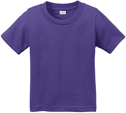 Joe's USA(tm Toddler Tees Soft and Cozy Cotton T-Shirt Size-4T,Purple