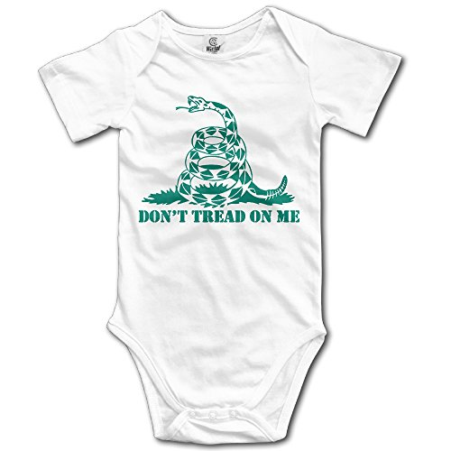 Haruhi Suzumiya Cloth - Baby Infants 100% Cotton Short Sleeve Onesies Toddler Bodysuit Don't Tread On Me Jumpsuit Clothes White Size 12 Months