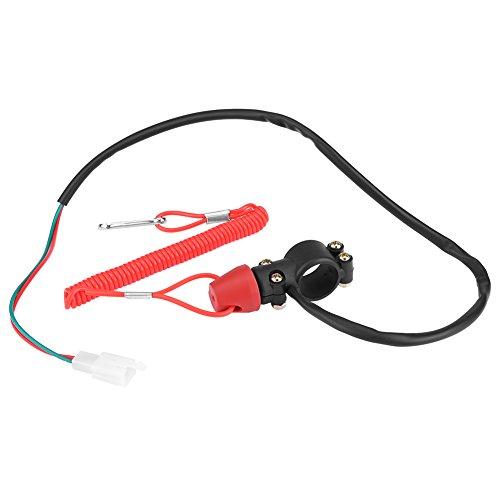 Universal Motorcycle Handlebar Outboard Switch 22mm, Keenso Motorbike 7/8 Handlebar Mount Waterproof Start Kill Switch ()